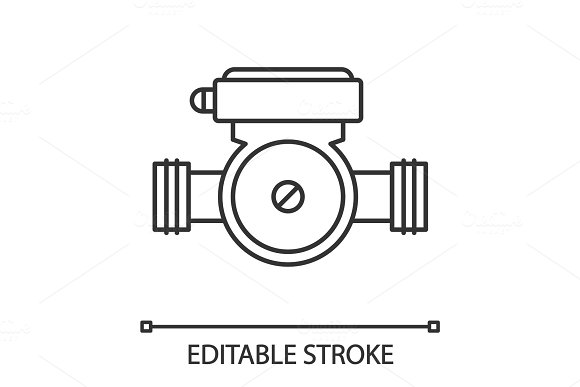 Water Pump Linear Icon