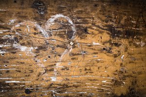Grunge heart on wood