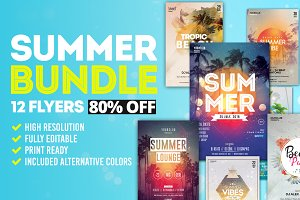 SUMMER Bundle 80% OFF - 12 Flyers