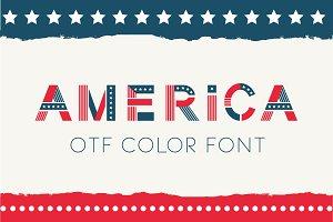 America otf color font.
