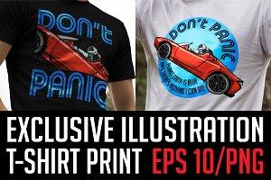 Spaceman t-shirt print! DON'T PANIC