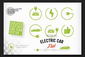 Electric car station icon