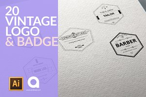 20 Vintage Logo & Badge