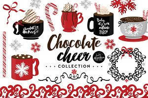 Chocolate Cheer Graphics & Patterns