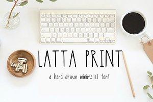 Latta Print: A Minimalist Print Font