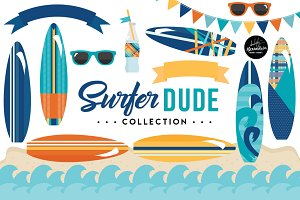 Surfer Dude Graphics & Patterns