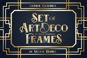Set Art Deco Frames [vector graphic]