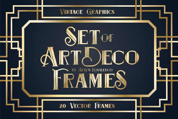 Set Art Deco Frames