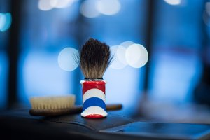 Shaving brush shaving beard