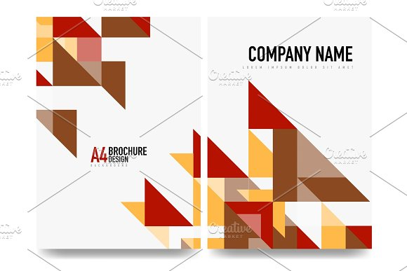 Business Brochure Cover Layout Flyer A4 Template