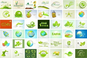 Go Green, Earth Day - Bundle (EPS10)