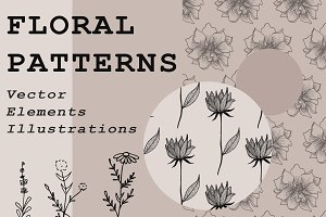 Floral Vector Patterns and Elements