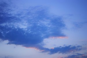 Evening sunset sky with clouds