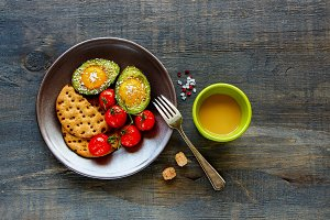 Vegetarian breakfast table