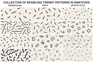 Memphis seamless patterns vol 1