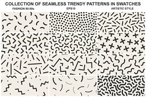 Memphis seamless patterns vol 2