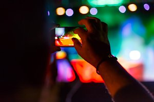 Capturing a video at music festival