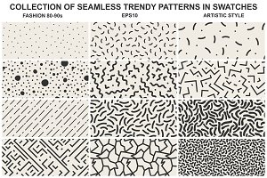 Memphis seamless patterns vol 3