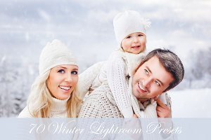 70 Winter Lightroom Presets