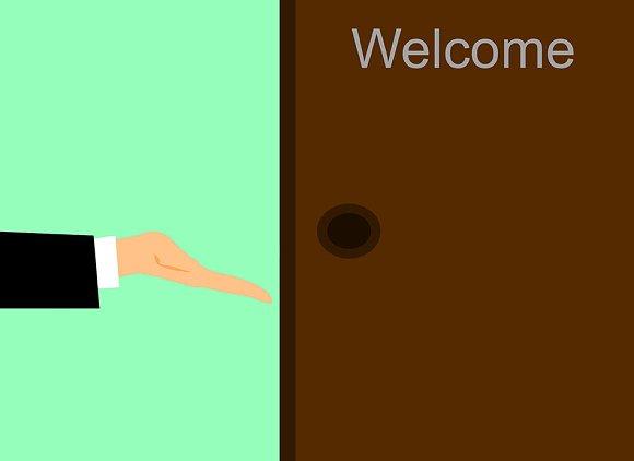 Hand And A Door