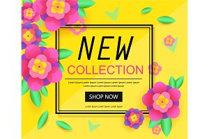 New Collection Banner. For website, shop store, online market.Vector Poster