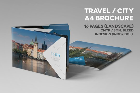 Travel City A4 Landscape Brochure
