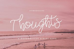 Thoughts Script Font