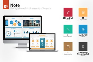 Note Flat Style PowerPoint Template