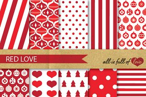 Christmas Backgrounds Red White