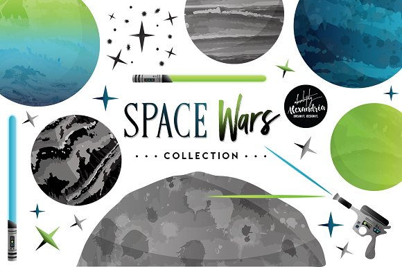 Space Wars Graphics Patterns