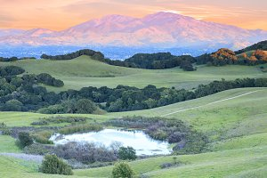 Mount Diablo Winter Sunset