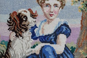 Girl With Dog Cross Stitch Pattern