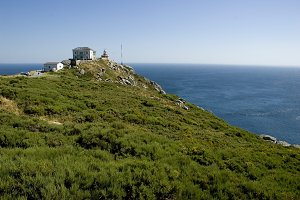 Cabo Finisterra with the lighthouse