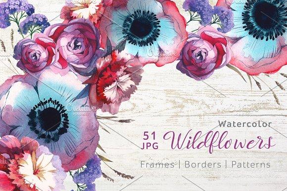 Wildflowers JPG Watercolor Set