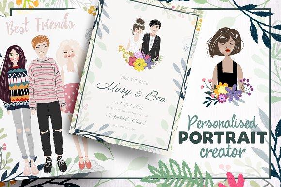 portrait creator illustrations creative market