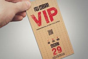 Elegant vintage VIP PASS