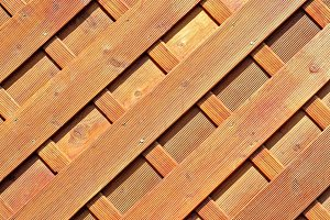 Diagonal Wooden Planks
