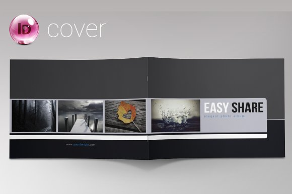 indesign photo album portfolio brochure templates creative market