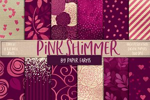 Pink shimmer backgrounds