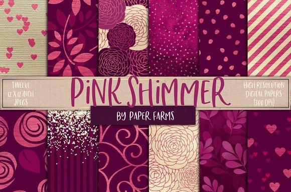Pink Shimmer Backgrounds
