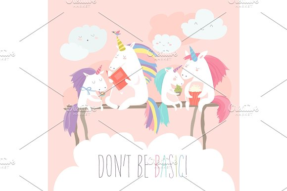 Unicorn Reading Book With Friends