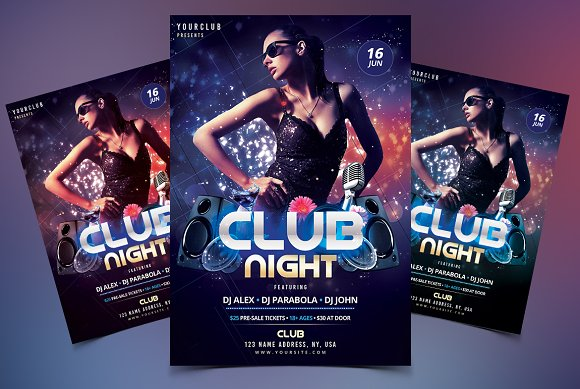 club dj psd flyer template flyer templates creative market