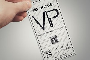 Elegant simple VIP PASS card