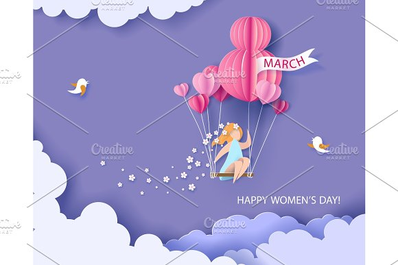 Card for 8 March womens day.