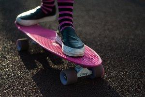 Skateboard stylish female footwear
