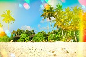 Paradise island sand beach