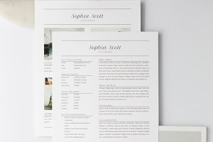 Sophia Media Kit + Resume