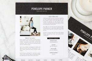 Penelope Media Kit + Resume
