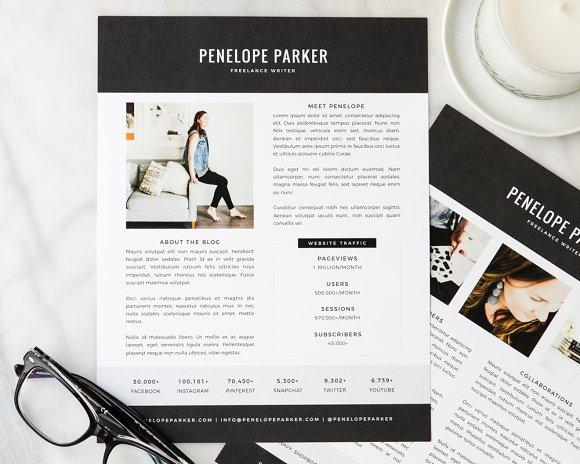 Penelope Media Kit Resume