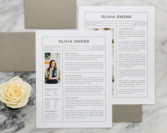 Olivia Media Kit Resume